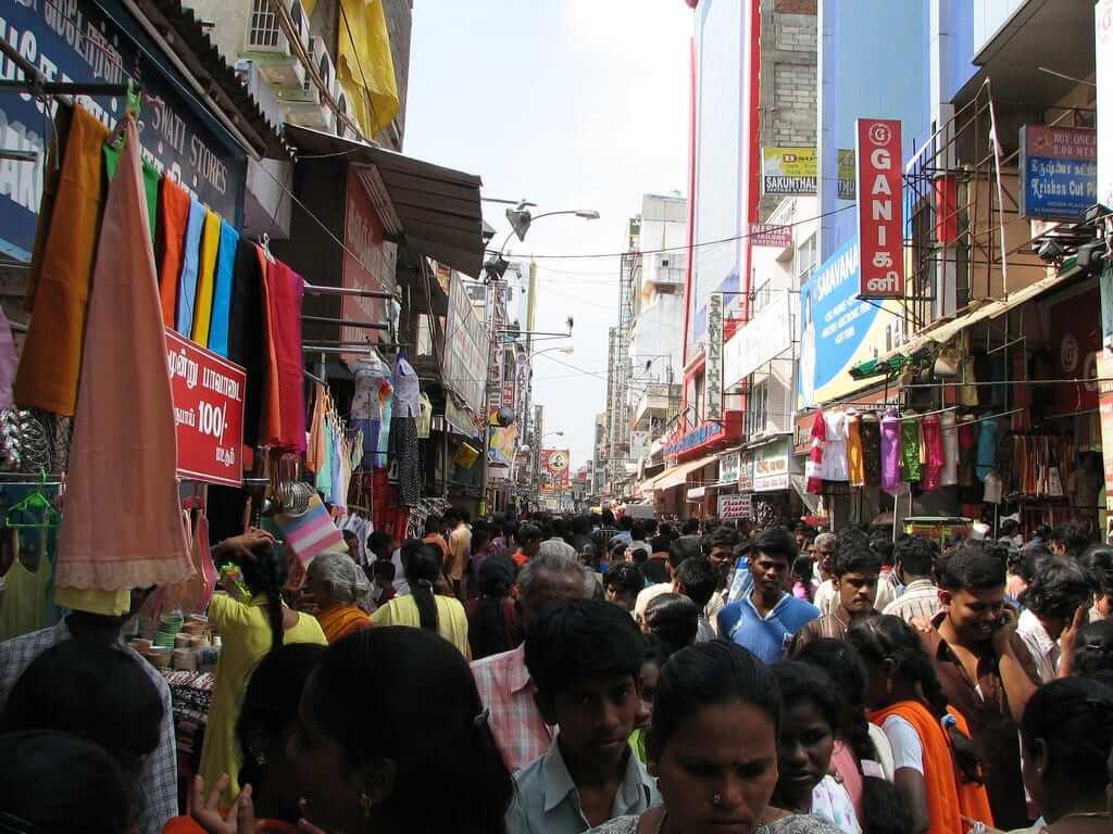 Shopping in Chennai, India